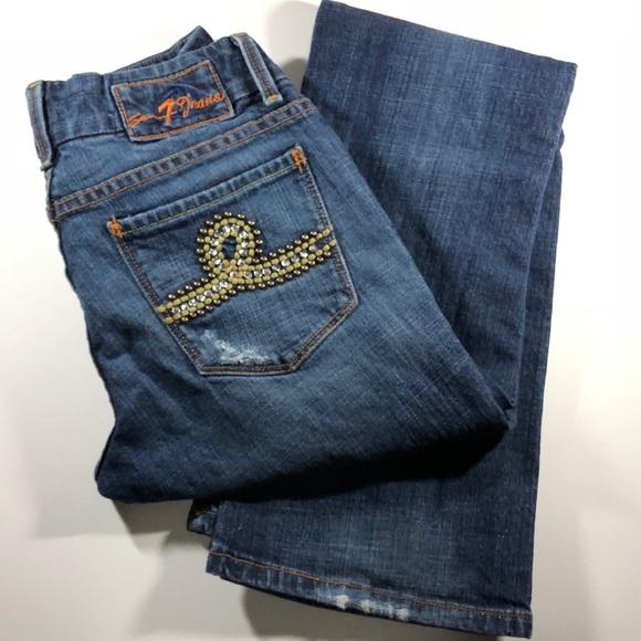 "Denim - Seven7 Women's Bootcut Jeans, sz 26, inseam 32"""